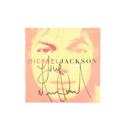 "Michael Jackson Signed Inner Booklet From ""Invincible"" CD"
