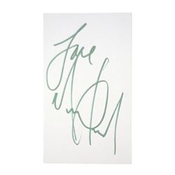 Michael Jackson Signed Paper Note