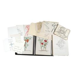 Charles Le Maire Original Artwork Sketches And Notes