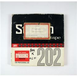 2001 A Space Odyssey Original Production Sound Tape Movie Props