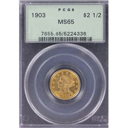 USA $2.50 or ¼ Eagle 1903 PCGS MS 65