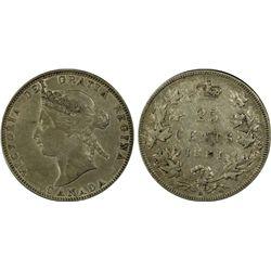 Canadian 25c 1881H EF 45
