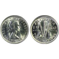 Australia 3 Pence 1960 PCGS MS 66 plus