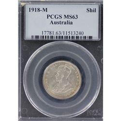 Australia 1918 Shilling PCGS MS 63