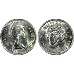 Australia Shilling 1961 PCGS MS 67