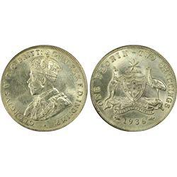 Australia 1936(m) Florin PCGS MS62