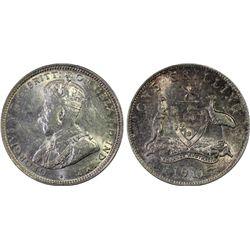 1911 Shilling PCGS AU 55