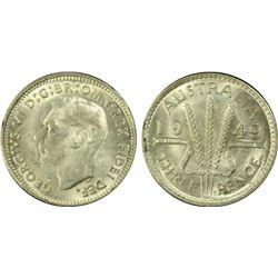 1949 Threepence PCGS MS 62