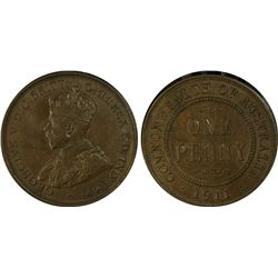1911 Penny PCGS AU 58