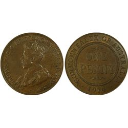 1914 Penny PCGS MS 62
