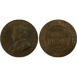 1915 H Penny PCGS MS 63 BN