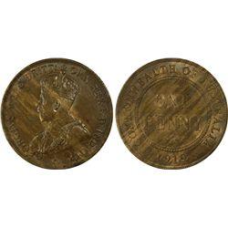 1919 Penny PCGS MS 63 BN