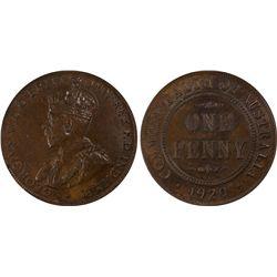 1920 dot below Penny PCGS AU 58