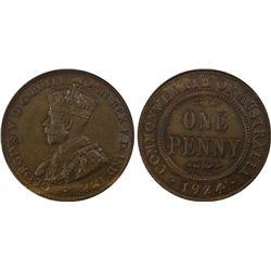 1924 Penny PCGS MS 62 BN