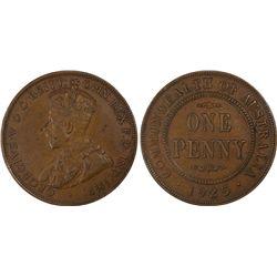 1925 Penny PCGS AU 50