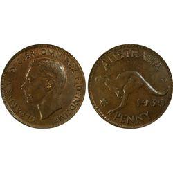 1939 Penny PCGS MS 64 BN