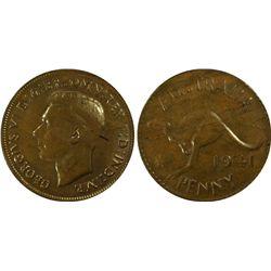 1941 M Penny PCGS MS 63 BN