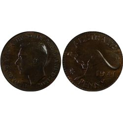 1941p Penny PCGS MS 62 BN