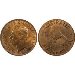 1943 I Penny PCGS MS 63 RB