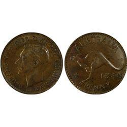 1946 Penny PCGS AU 55