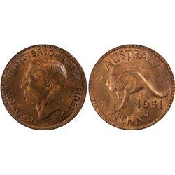 1951M Penny PCGS MS 63 RB