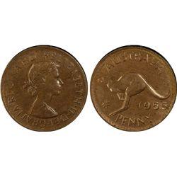 1955 P Penny PCGS MS 63 BN