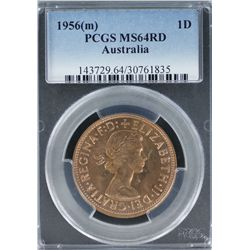 1956 Penny PCGS MS 64 Red