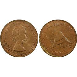 1957 P Penny PCGS MS 64 RB