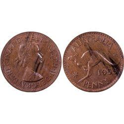 1959 M Penny PCGS MS 63 BN