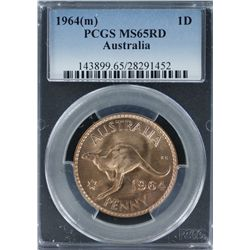 1964 Penny PCGS MS 65 Red