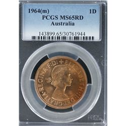 1964M Penny PCGS MS 65 Red