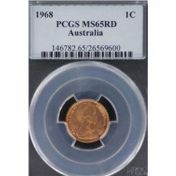 1968 1c PCGS MS 65 Red (2)