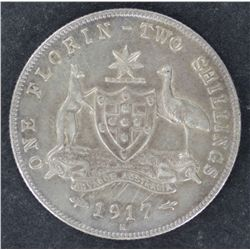 Florin 1917 Nearly EF