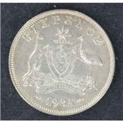 Sixpence 1935 Nearly Unc