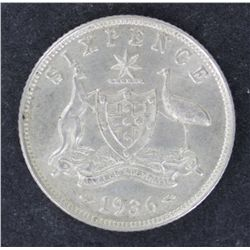 Sixpence 1936 Uncirculated