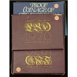 UK Proof Sets 1970 ½ Penny to ½ Crown (5 Sets )