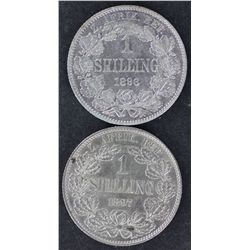 South Africa ZAR Shillings 1896 & 1897, EF Plus