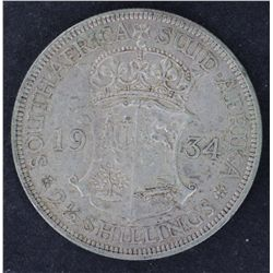 South Africa ½ Crowns 1923 VF, 1934 gVF, 1935 EF , 1936 EF
