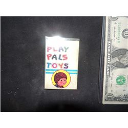 CHILD'S PLAY 2 SCREEN USED & MATCHED PLAY PALS TOYS IF TAG WORN BY FACTORY WORKER
