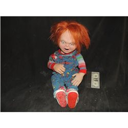 CURSE OF CHUCKY COMPLETE GOOD GUY PUPPET FROM SUPER BOWL RADIO SHACK COMMERCIAL WARDROBE IS INCLUDED