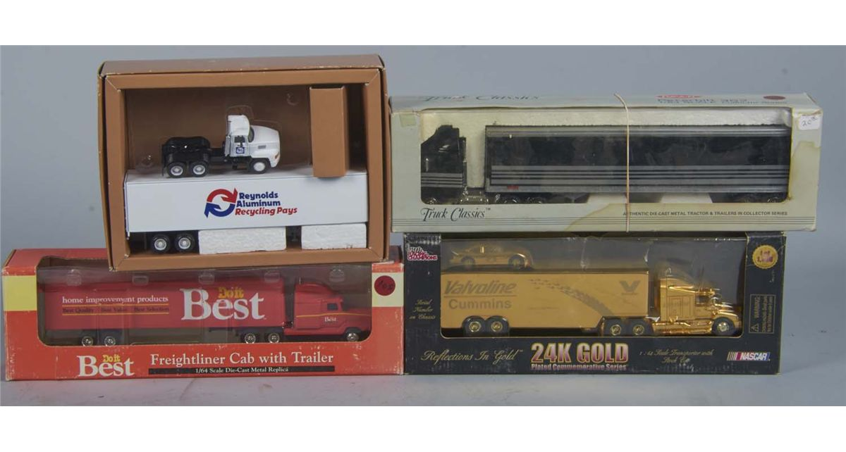 Lot Of 4 Die-Cast Tractor Trailers