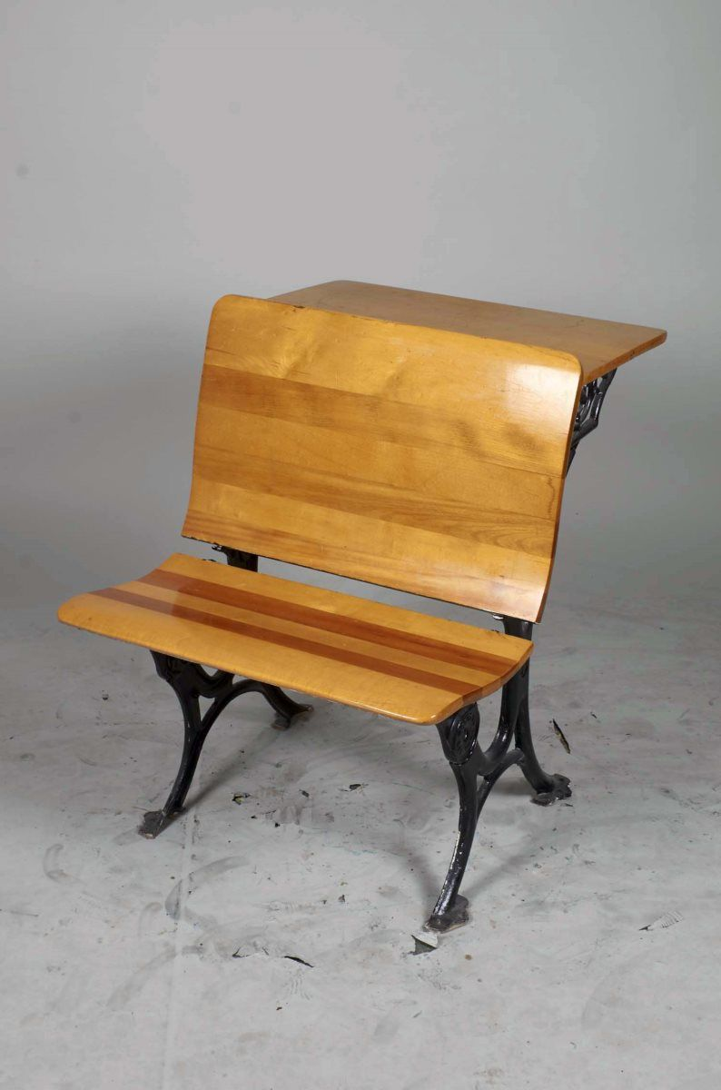 Remarkable Antique Students Desk W Attached Folding Chair Unemploymentrelief Wooden Chair Designs For Living Room Unemploymentrelieforg