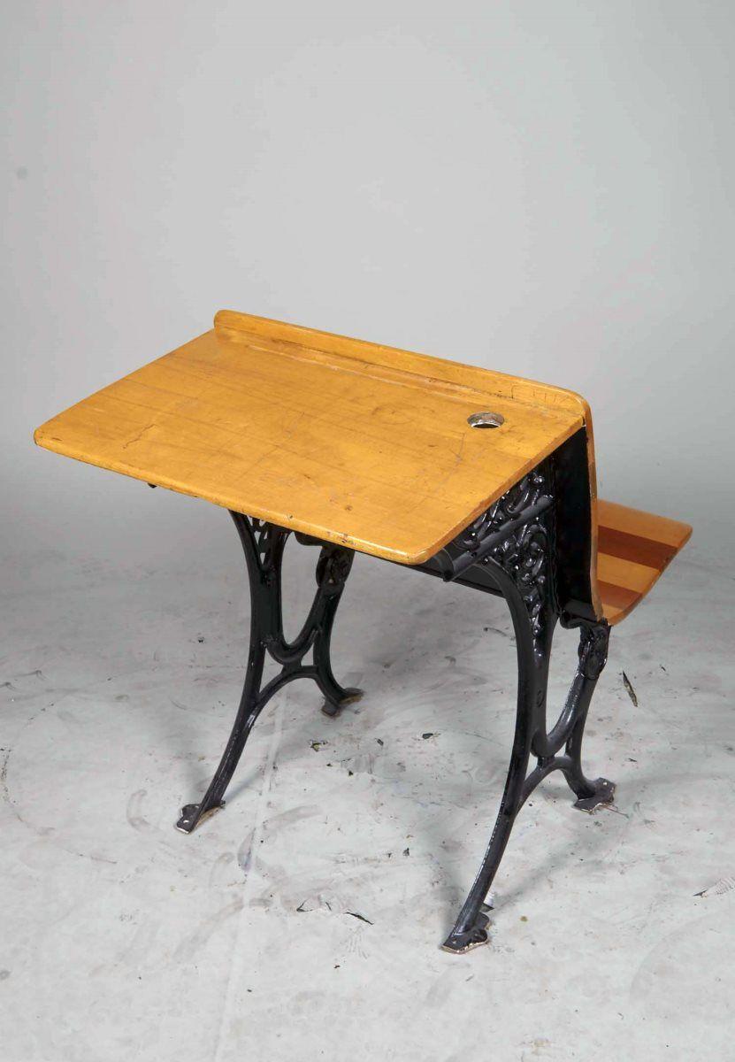 Superb Antique Students Desk W Attached Folding Chair Unemploymentrelief Wooden Chair Designs For Living Room Unemploymentrelieforg
