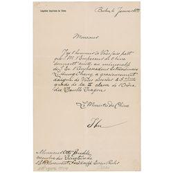 Li Hongzhang Autograph Letter Signed