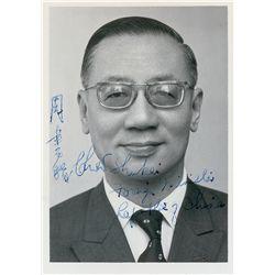 Chow Shu-kai Signed Photograph