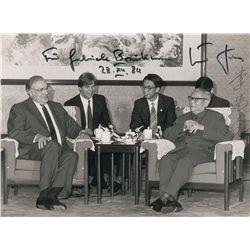 Li Xiannian and Helmut Kohl Signed Photograph