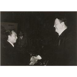 Hu Yaobang and Holger Borner Signed Photograph