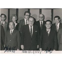 Li Peng, Qian Qichen, and Hans-Dietrich Genscher Signed Photograph