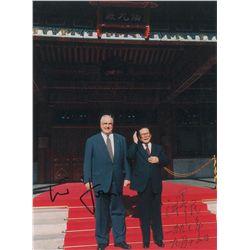 Jiang Zemin and Helmut Kohl Signed Photograph