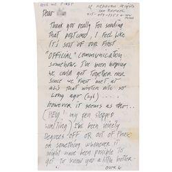 Jerry Garcia Autograph Letter Signed